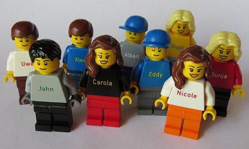 Lego Steindrucker Marketing Bausteine